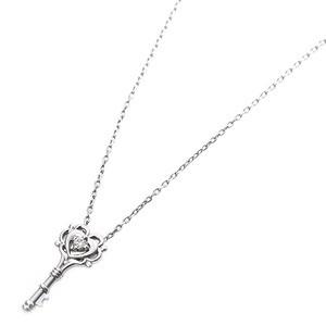 〔鑑別書付〕プラチナPT900 天然ダイヤネックレス ダイヤモンドペンダント/ネックレス0.014ct キーモチーフ