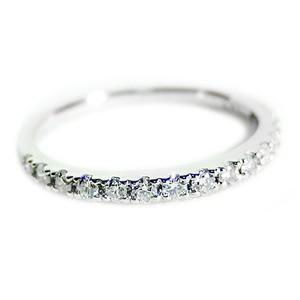 〔鑑別書付〕プラチナPT900 天然ダイヤリング 指輪 ダイヤ0.30ct 9号 ハーフエタニティリング