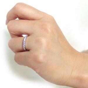 〔鑑別書付〕プラチナPT900 天然ダイヤリング 指輪 ダイヤ0.50ct 9号 ハーフエタニティリング