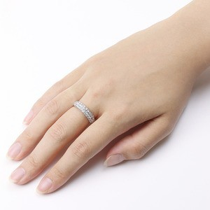 ダイヤモンド リング ハーフエタニティパヴェ 1ct プラチナ Pt950 ダイヤ合計37石 1カラット ハニカムセッティング構造で強度アップ ハー