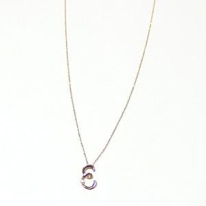 イニシャル ネックレス ダイヤモンド ネックレス 一粒 0.01ct K18 ゴールド 文字 E ダイヤネックレス ペン