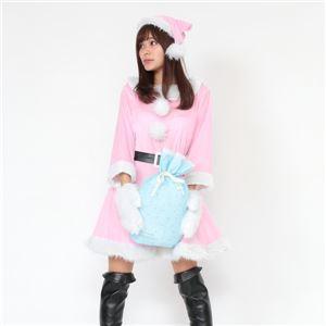 サンタ コスプレ ピンク レディース 〔帽子&ベルト&手袋セット〕 まとめ買い 〔Peach×Peach ラブリーサンタ