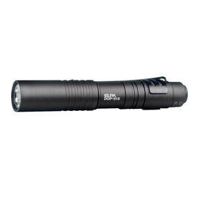 (業務用セット) ELPA シャープスタイル LEDハンドライト 単4形1本 DOP-015BK 〔×3セット〕