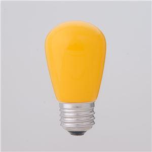 (業務用セット) ELPA LED装飾電球 サイン球形 E26 イエロー LDS1Y-G-G903 【×5セット】