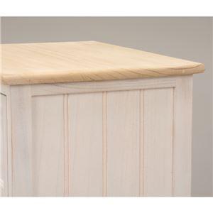 テレビ台/テレビボード 【幅74cm:20型〜32型対応】 木製 棚/引き出し付き シャビーシック ホワイト(白) 【代引不可】
