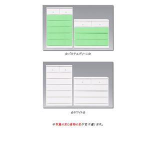 姫系カラフルローチェスト/タンス収納家具 幅100cm 4段 (カラー:パステルピンク) 【日本製/完成品】