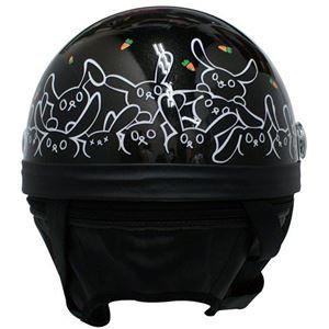 ダムトラックス(DAMMTRAX) ハーフヘルメット CARINA HARF(カリーナハーフ) ブラック/RABBIT レデ