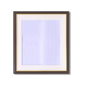 【額縁】マット・壁掛けひも・アクリル付 ■8125水彩額F10号 マット付 (ブラウン)