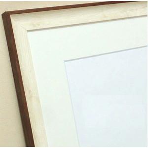 軽量水彩額縁/フレーム 〔F10号/ホワイト〕 壁掛けひも/UV(紫外線)カットアクリル/マット付き 化粧箱入り 8155