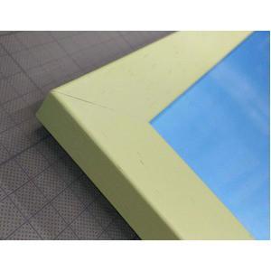 〔数量限定〕 絵画額縁/淡いグリーンフレームセット 〔いわさきちひろ/ポインセチアと少女〕 額縁内寸サイズ:420×370m