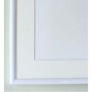 水彩額縁/フレーム 〔F6号/ホワイト〕 壁掛けひも/アクリル/マット付き 化粧箱入り 6700