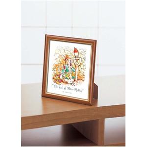 ピーターラビット絵画額縁/フレームセット 〔インチ判〕 1500インチ額 「お食事中」 スタンド付き 壁掛け可