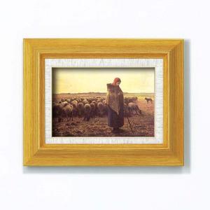 【世界の名画】 複製画 絵画額 ■ミレー名画額サム「羊飼いの少女」