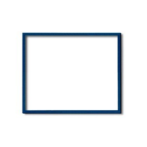 デッサン額縁/フレーム 〔半切サイズ 545×424mm〕 ブルー(青) 壁掛けひも/アクリル付き 化粧箱入り 5767