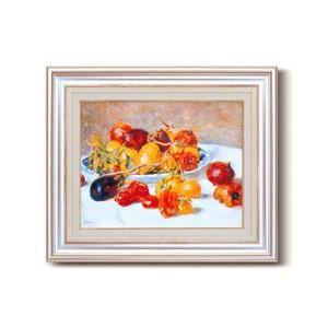 名画額縁/フレームセット 〔F6AS〕 ルノワール 「南仏の果実」 477×571×59mm 壁掛けひも付き