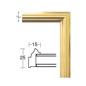 デッサン額縁/フレーム 〔八ツ切サイズ 303×242mm〕 ゴールド 壁掛けひも付き 化粧箱入り 5002