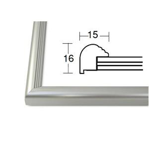 デッサン額縁/フレーム 〔八ツ切サイズ 303×242mm〕 シルバー 壁掛けひも付き 化粧箱入り 5004