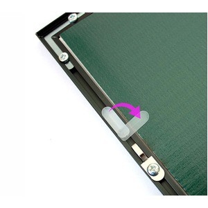 パネルフレーム/ポスター額縁 〔B2/内寸:728×515mm シルバー〕 壁掛けひも付き 前面:UVカットPET 「500