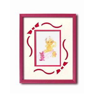 額縁/フレーム いわさきちひろアート額 「ピンクのウサギと赤ちゃん」 壁掛け用 日本製