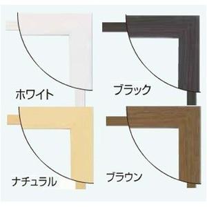 日本製パネルフレーム/ポスター額縁 〔B4/内寸:364x257ホワイト〕 壁掛けひも・低反射フィルム付き「5901くっきり