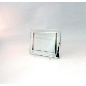 ミラータイプフォトフレーム/写真立て 【ハガキサイズ 150×105mm対応】 ピカソミラーフレーム 「平和」 化粧箱入り 日本製