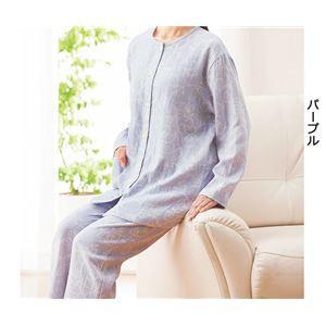 三河木綿のダブルガーゼパジャマ 【ライトグリーン L : L】