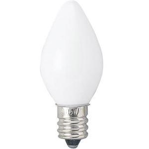 (まとめ)ローソク球 電球 E12 5W 白 2個パック ヤザワ 1CC2P【×30セット】