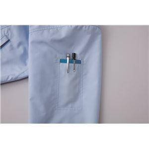 空調服 綿・ポリ混紡トリカット リチウムバッテリーセット BK-500TRC37S4 ターコイズブルー 2L