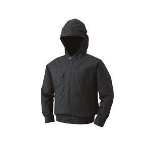 空調服 フード付綿薄手長袖ブルゾン リチウムバッテリーセット BM-500FC69S4 チャコール 2L