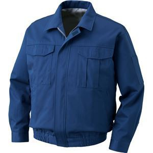 裏地式綿厚手ワーク空調服  〔カラー:ダークブルーサイズ:M〕 リチウムバッテリーセット