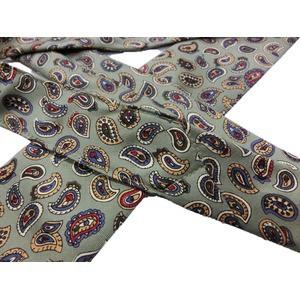 希少限定生地 シルクネクタイ Clarkプレミアム 手縫い仕立て 西陣ネクタイ ペイズリー