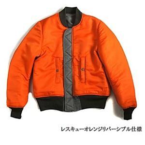MA-1 フライトジャケット82790モデルレスキュウ オレンジリバーシブル仕様 JJ169YN ブラック S 〔 レプリカ