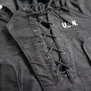 アメリカ海軍 ウェットウェザーパーカー/ジャケット 【 Mサイズ 】 綿100% JP050YN カーキ 【 レプリカ 】