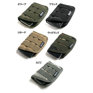 モール対応防水布使用 スマートフォンケース ブラック