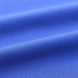 UVカット・吸汗速乾・ドライジャージパイルフルジップラグランスリーブジャケット ブラック/ターコイズ ブルー XXL