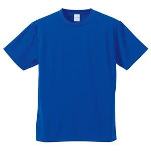 UVカット・吸汗速乾・5枚セット・4.1オンスさらさらドライ Tシャツ コバルトブルー XXXXL