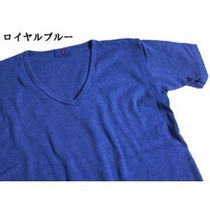 フランス軍 Vネック Tシャツレプリカ 後染めロイヤルブルー7( M)