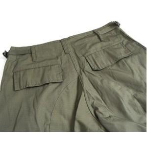 アメリカ軍 BDU カーゴショートパンツ /迷彩服パンツ 〔 XSサイズ 〕 リップストップ オリーブ 〔 レプリカ 〕