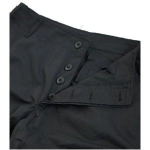 アメリカ軍 BDU クロップドカーゴパンツ /迷彩服パンツ 〔 Lサイズ 〕 リップストップ ブラック 〔 レプリカ 〕