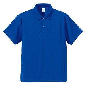 さらさらドライポロシャツ 3枚セット 〔 Mサイズ 〕 半袖 UVカット/吸汗速乾 4.1オンス ホワイト/ブラック/コバル