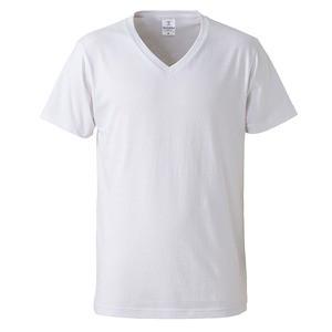 深すぎす浅すぎないVネックTシャツ2枚セット (ホワイト+ホワイト) L