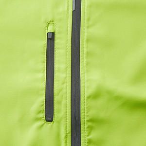 シャカシャカと音がしない撥水&防風加工・リフレクター・裏地付スタンドジップジャケット ライムエイド、 XL