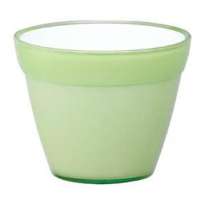 〔4個入〕イタリア製樹脂ポット(植木鉢/プランター) COCCO(コッコ) φ8cm/穴無し ライトグリーン(緑) 〔ガーデ