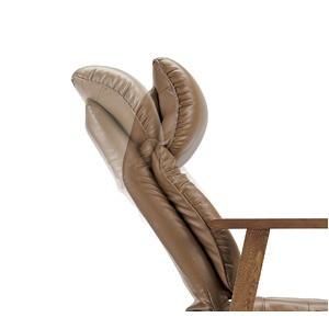 スーパーソフトレザー高座椅子/リクライニングチェア 【ワインレッド】 張地:合成皮革/合皮 肘付き ハイバック 日本製 『凛』【代引不可