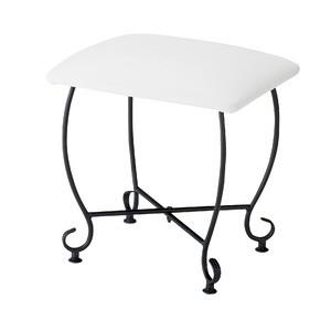 ヨーロッパ風 スツール/腰掛け椅子 【幅45cm】 スチール脚 張地:合成皮革/合皮 『Del Sol』【代引不可】