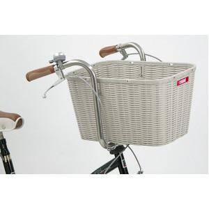 後ろ用バスケット(自転車カゴ) 大型サイズ 【OGK】RB-002 Bグレー(灰) 〔自転車パーツ/アクセサリー〕【代引不可】