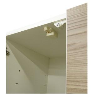 ダイニングボード(食器棚) 【ガラス扉】 幅75cm 上台扉耐震ラッチ付き 日本製 ホワイト(白) 【完成品】【代引不可】