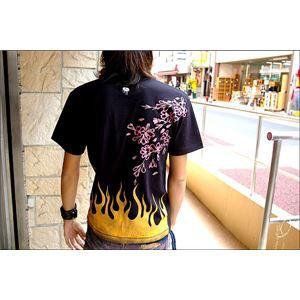 戦国武将Tシャツ 〔前田慶次〕 XSサイズ 半袖 綿100% ブラック(黒) 〔Uネック おもしろ〕