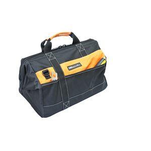 (業務用3個セット) DBLTACT 大口収納バッグ/作業バッグ 〔Mサイズ〕 ファスナー開閉式 DT-CB-M 〔DIY用