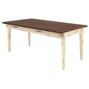 折りたたみテーブル(ローテーブル/コーヒーテーブル) Daisy 木製 幅80cm 幕板付き ショコラ 〔完成品〕